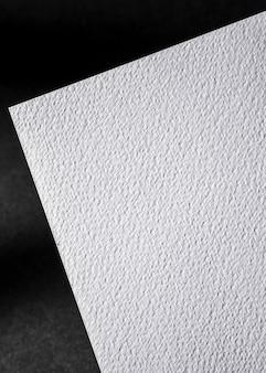 Primer plano de papel con textura blanca