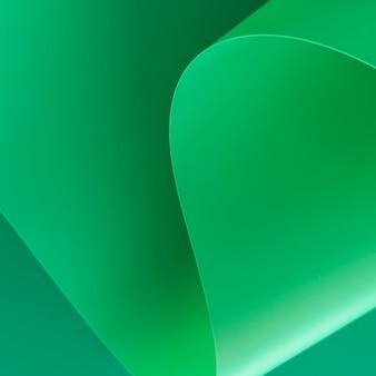 Primer plano de papel verde abstracto minimalista