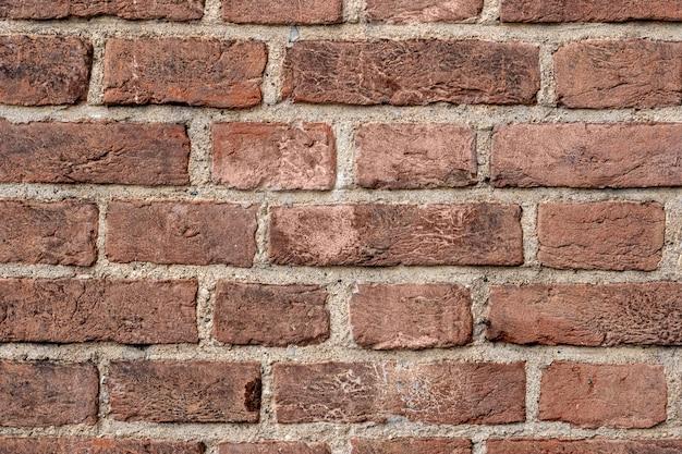 Primer plano de la pared de ladrillo
