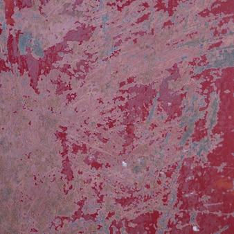 Primer plano de la pared pintada de rojo