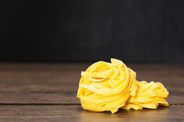 Primer plano de pasta italiana