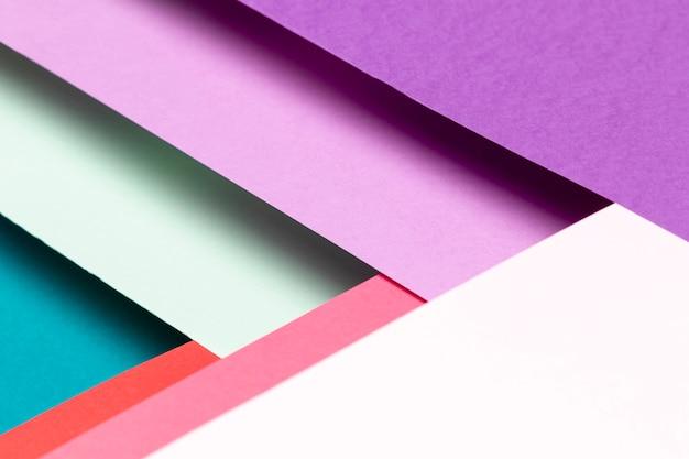 Primer plano de patrón de colores de vista superior