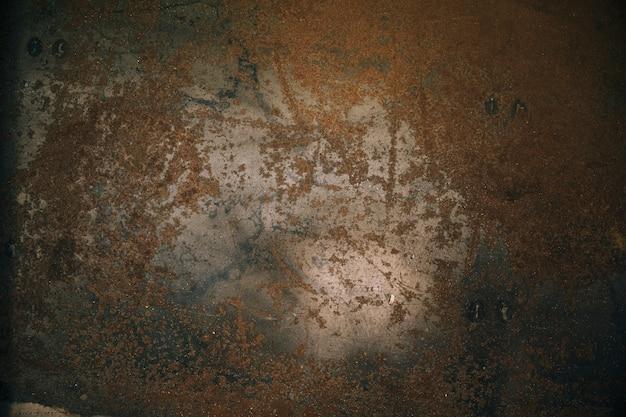 Primer plano de placa de acero metálico oxidado