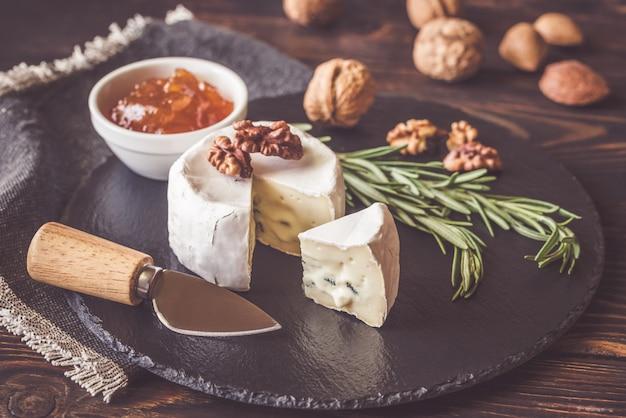 Primer plano de queso cambozola