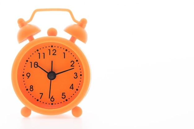 Primer plano de reloj naranja