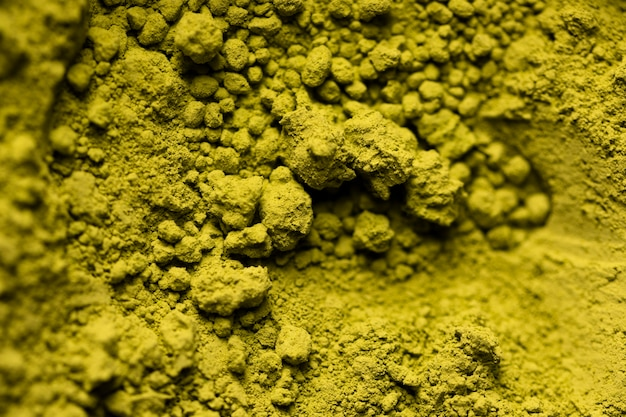 Primer plano saludable equipo verde matcha