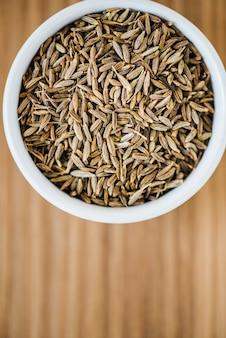 Primer plano de semillas de comino