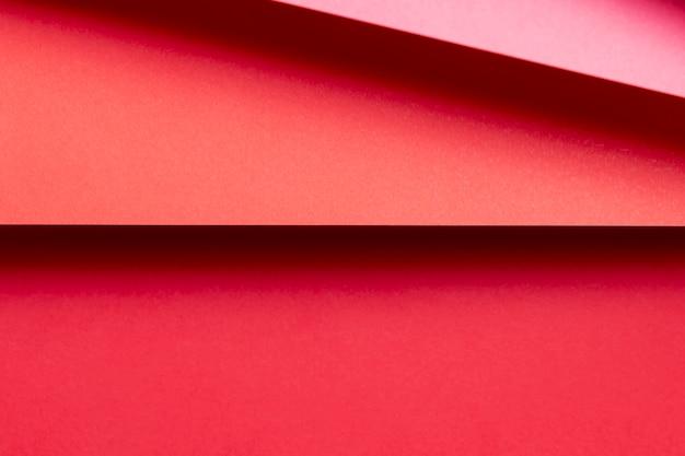 Primer plano de sombras de patrones rojos