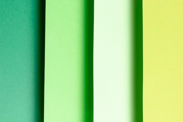 Primer plano de sombras de patrones verdes