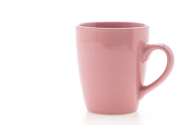 Primer plano de la taza púrpura
