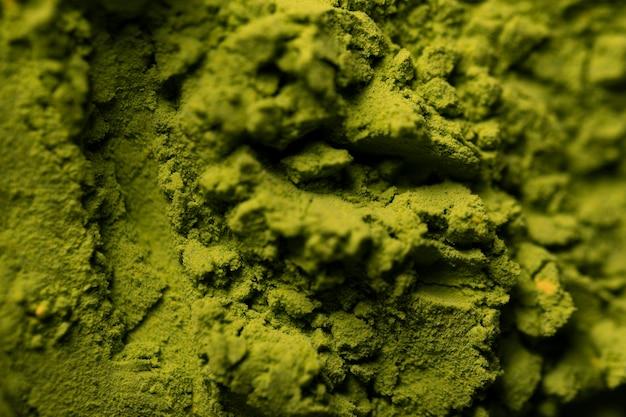 Primer plano de té verde matcha asiático