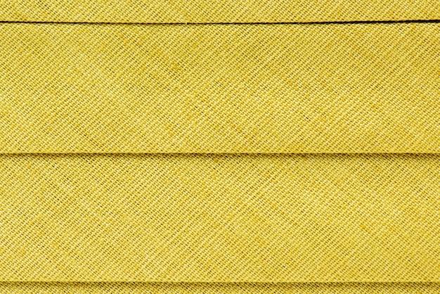 Primer plano de tela amarilla
