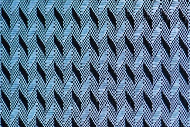 Primer plano de tela azul