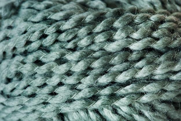 Primer plano de tela de lana