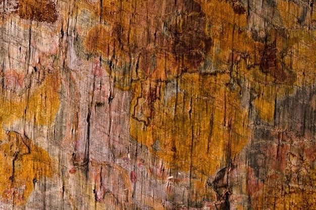 Primer plano de textura de madera oxidada