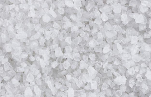 Primer plano de textura de sal marina