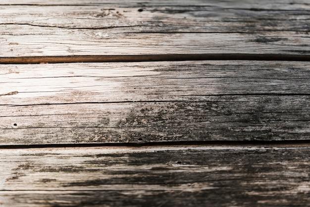 Primer plano del viejo telón de fondo con textura de madera