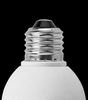 Primer plano del zócalo de la lámpara eléctrica