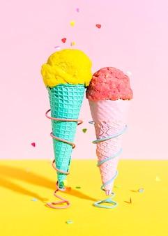 Primeros conos de helado