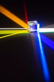 Prismas de luz de colores