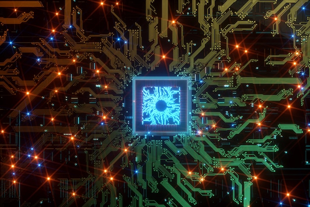 Procesador de comunicación integrado con chip digital