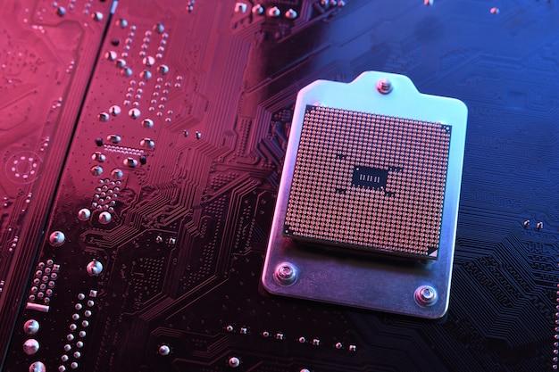 Procesador de cpu de computadora