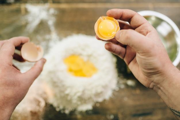 Proceso de cocción de pasta casera, preparación de masa
