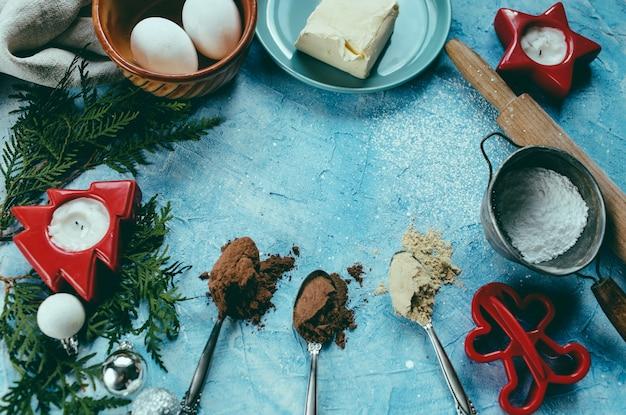 El proceso de hacer galletas de navidad