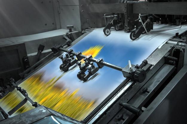 Proceso en una imprenta moderna