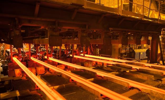 Producción de acero y metal.