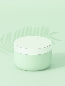 Producto cosmético en verde