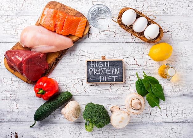 Producto para dieta alta en proteínas