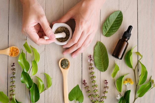 Producto de hierbas medicinales orgánicas.