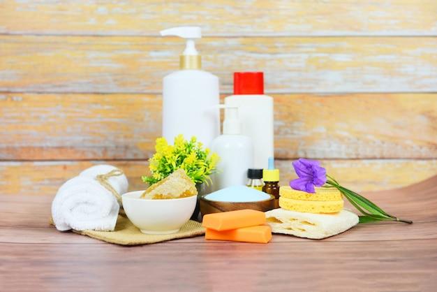 Productos de baño naturales jabón hierbas spa aromaterapia