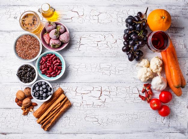 Productos para combatir el cáncer. comida para la salud