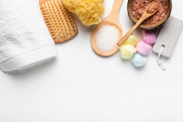 Productos cosméticos de spa para el cuidado de la piel