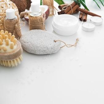 Productos de crema y scrab de alto ángulo