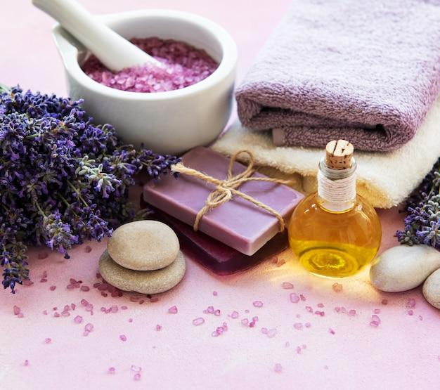 Productos de lavanda spa