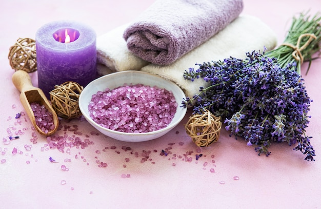 Productos de lavanda spa