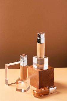 Productos de maquillaje de alto ángulo