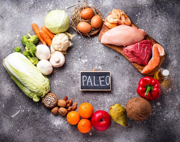 Productos saludables para la dieta paleo.