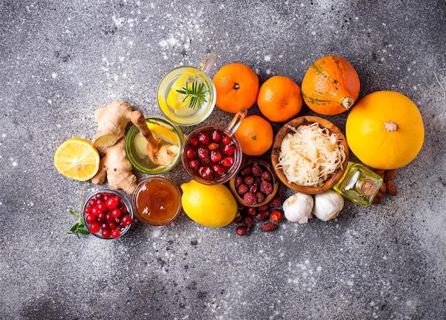 Productos saludables para potenciar la inmunidad.