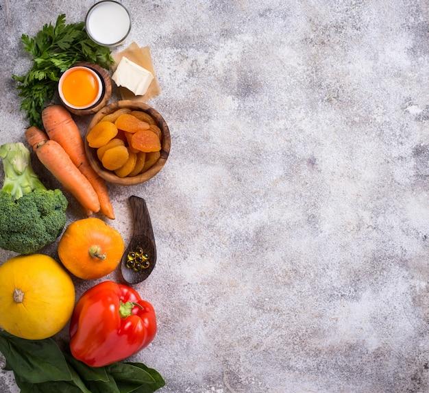 Productos saludables ricos en vitamina a