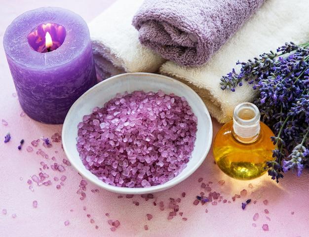 Productos de spa lavanda