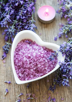 Productos de spa lavanda