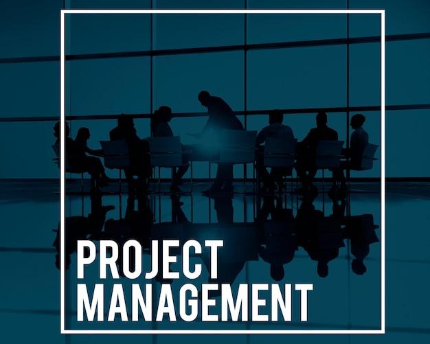 Project management manager planning processes concept