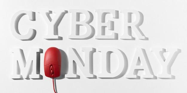 Promoción de marketing de cyber monday