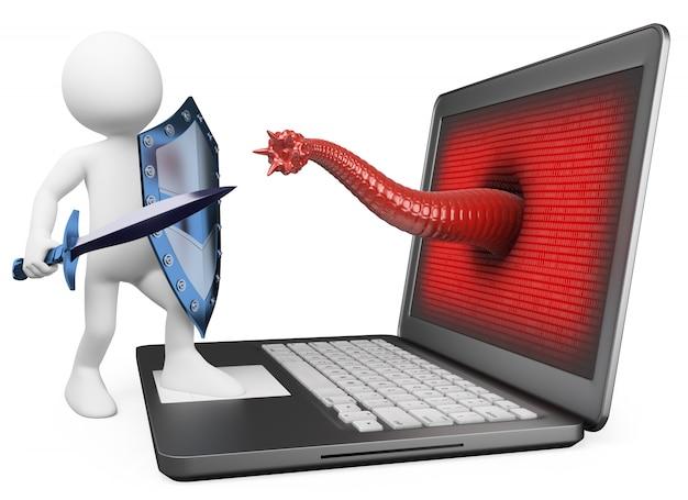 Protección antivirus que lucha contra virus informáticos