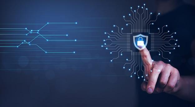 Protección de datos ciberseguridad privacidad de la información concepto de tecnología empresarial