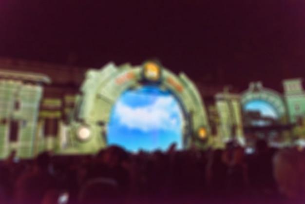 Proyección de luz festival tema borroso de fondo